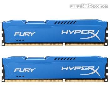 金士顿(Kingston)骇客神条 Fury系列 DDR3 1600 8GB(4GBx2)台式机内存(HX316C10FK2/8)蓝色